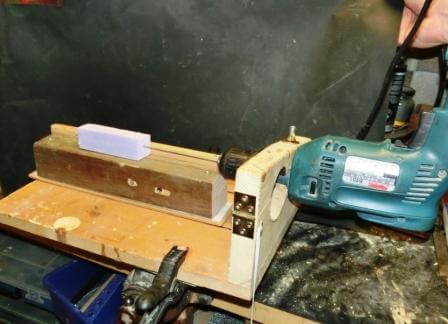 drechselbank selber bauen - Bosch Drechselbank